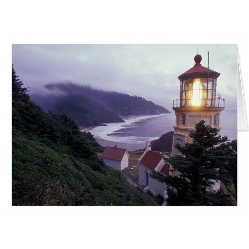 A foggy day on the Oregon coast at the Heceta Greeting Card