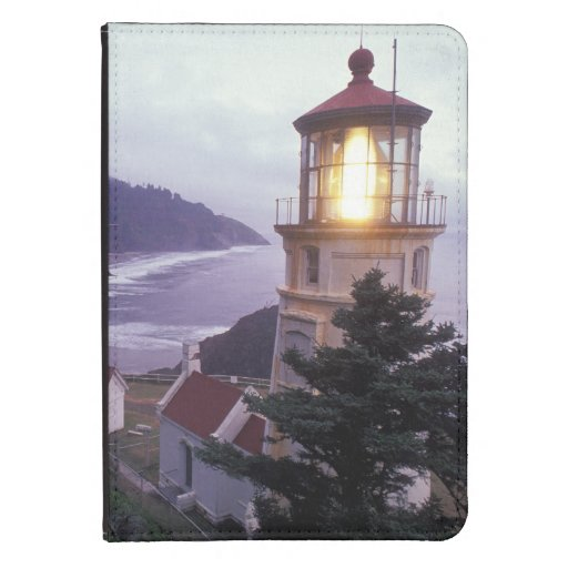 A foggy day on the Oregon coast at the Heceta Kindle 4 Cover