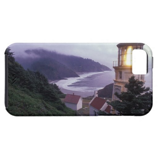 A foggy day on the Oregon coast at the Heceta iPhone 5 Cover