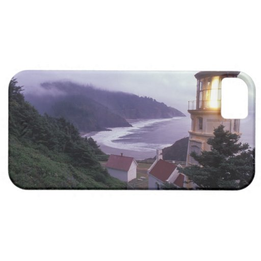 A foggy day on the Oregon coast at the Heceta iPhone 5 Case