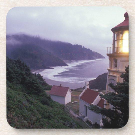 A foggy day on the Oregon coast at the Heceta Drink Coaster