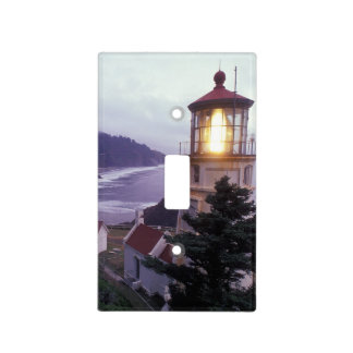 A foggy day on the Oregon coast at the Heceta Light Switch Cover