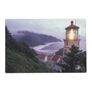 A foggy day on the Oregon coast at the Heceta Placemat at Zazzle