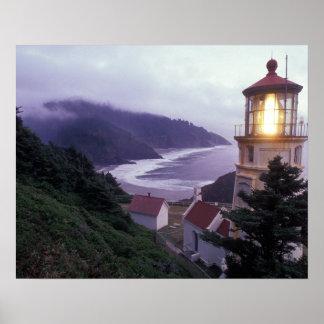 A foggy day on the Oregon coast at the Heceta Print
