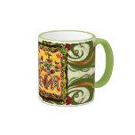 A folk art Russian Happy Birthday Cup Mugs