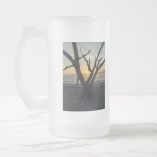 A Folly Sunrise Frosted Glass Beer Mug