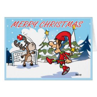 A Football Christmas card