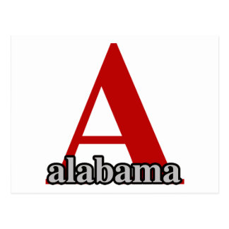 A For Alabama Postcard