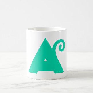 A for alphabet classic white coffee mug