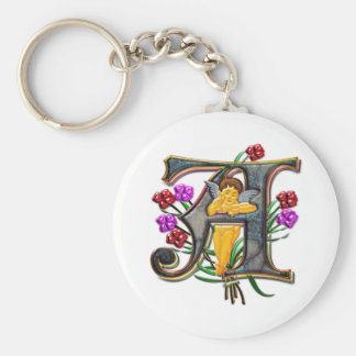 A for Angel Print Keychain