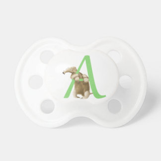 A for Anteater Initial Monogram pacifier