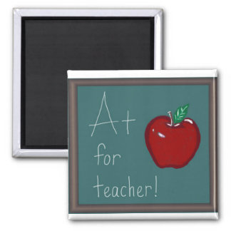 A+ for Teacher 2 Inch Square Magnet