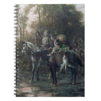 A Foraging Party Returning to Camp (oil on canvas) Spiral Notebooks