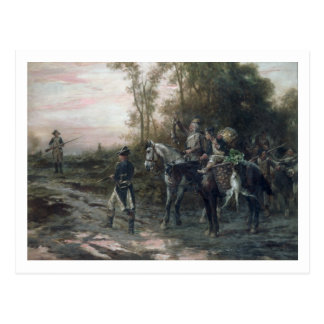 A Foraging Party Returning to Camp (oil on canvas) Postcard