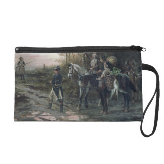 A Foraging Party Returning to Camp (oil on canvas) Wristlet Purse