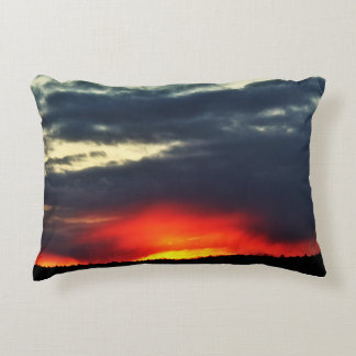 A Foreboding Sunset Decorative Pillow