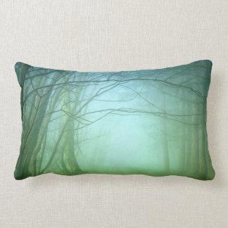 A Forest With Fog Lumbar Pillow