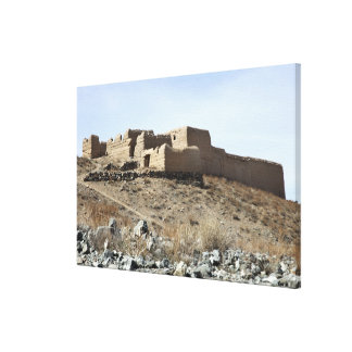 A fortified compound in the village of Akbar Kh Canvas Print