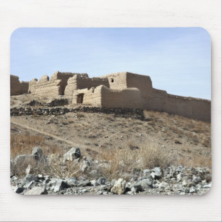 A fortified compound in the village of Akbar Kh Mouse Pad
