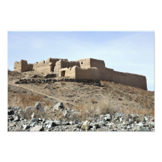 A fortified compound in the village of Akbar Kh Photo Print