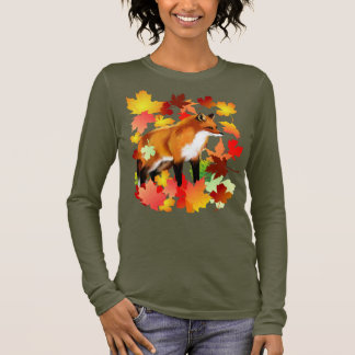 A FOX in FALL Long Sleeve T-Shirt