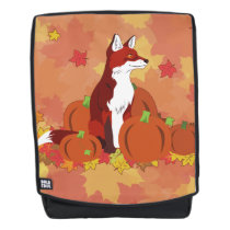 A Fox In the Pumpkin Patch Backpack