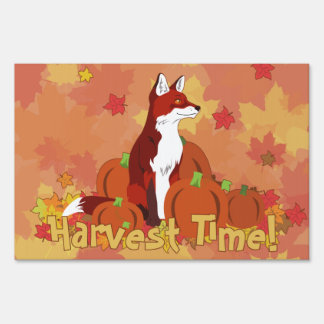 A Fox in the Pumpkin Patch (Harvest Time!) Yard Sign
