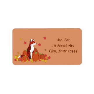 A Fox in the Pumpkin Patch Label