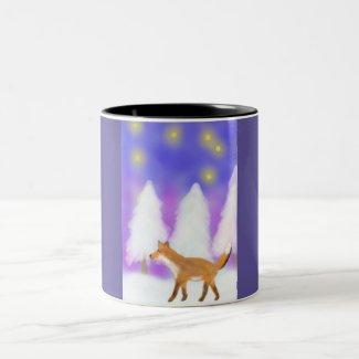 A Fox walking in the Winter Wonderland