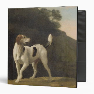 A Foxhound, c.1760 (oil on paper laid on board) Binder