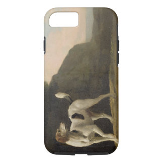 A Foxhound, c.1760 (oil on paper laid on board) iPhone 8/7 Case