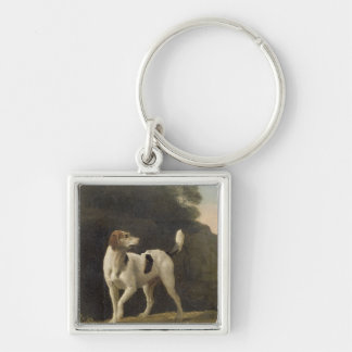 A Foxhound, c.1760 (oil on paper laid on board) Keychain