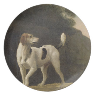 A Foxhound, c.1760 (oil on paper laid on board) Plates