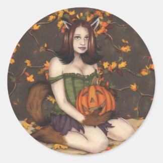 A Foxy Halloween Sticker