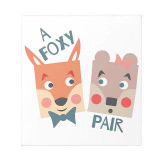 A Foxy Pair Notepads