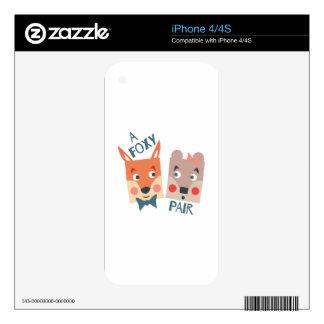 A Foxy Pair iPhone 4 Skin