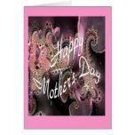 A fractal digital art Mothers Day card