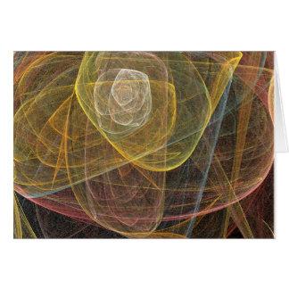 A Fractal Rose Card