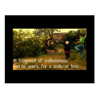A fragment of endlessness Postcard