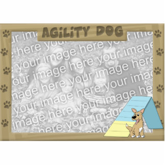 A-Frame Agility Dog Photo Frame Cutout