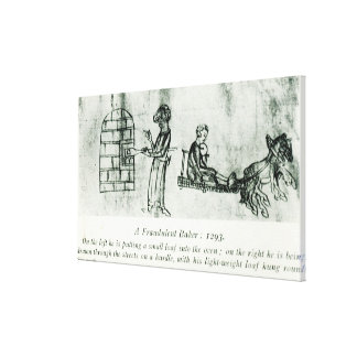 A Fraudulent Baker, 1293 Canvas Print