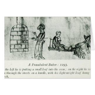 A Fraudulent Baker, 1293 Greeting Card