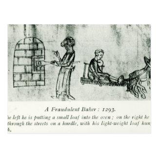 A Fraudulent Baker, 1293 Postcard
