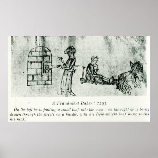 A Fraudulent Baker, 1293 Poster