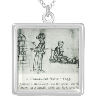 A Fraudulent Baker, 1293 Silver Plated Necklace