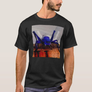 A freaky blue cricket in cartoon style photograph T-Shirt