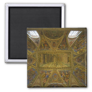 A frecoed ceiling by Raphael in the Hall of Refrigerator Magnet
