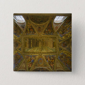 A frecoed ceiling by Raphael in the Hall of Pinback Button
