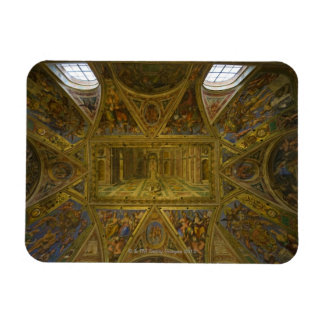 A frecoed ceiling by Raphael in the Hall of Vinyl Magnets