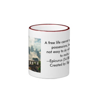 A free life cannot acquire many possessions... ringer coffee mug